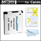 Replacement NB-11L Battery Kit For Canon Powershot Elph 130 IS, ELPH 115 IS, A2500, 135, 140 IS, 150 IS, ELPH 340 HS, A4000 IS, SX400 IS, ELPH 170 IS, ELPH 160, SX410 IS, ELPH 350 HS Digital Camera