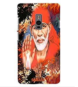 ColourCraft Lord Sai Baba Design Back Case Cover for OnePlus Two