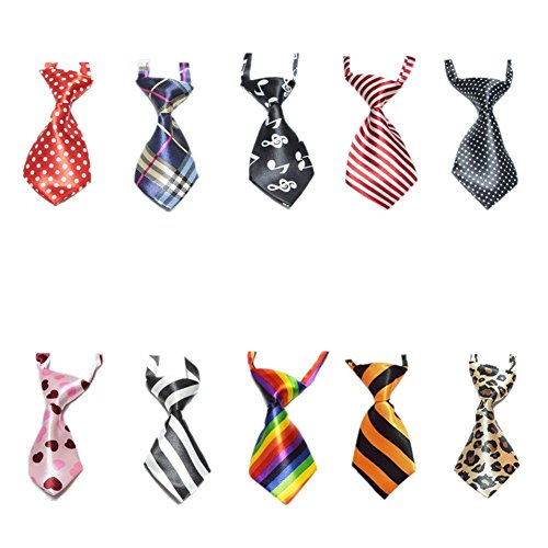 10 Pcs/Pack, GOGO Dog Cat Collar, Neckties, Assorted (Neck Ties For Cats compare prices)