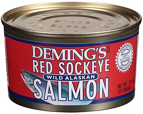 Deming's Wild Alaska Red Sockeye Salmon 7.5 oz (6 Pack) (Sockeye Salmon Canned compare prices)