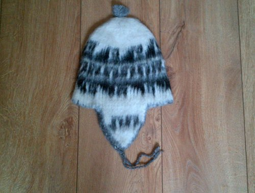 NOW HALF PRICE Small Woollen Chullo Hat Genuine Alpaca Hand Knitted from Bolivia Fair Trade