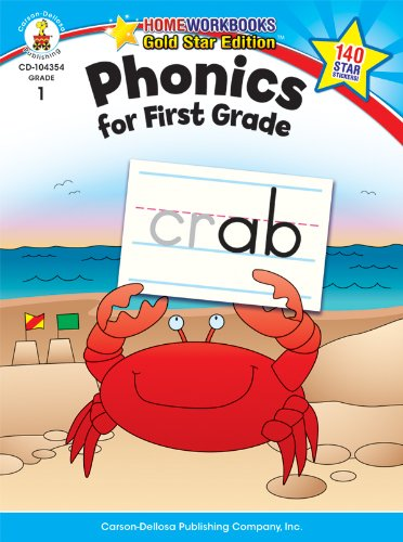 Phonics for First Grade, Grade 1: Gold Star Edition (Home Workbooks) (Ending Blends Chart compare prices)