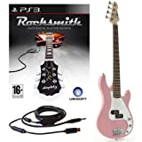 Rocksmith (PS3) 3/4-elektrische G-4-Bassgitarre in Pink