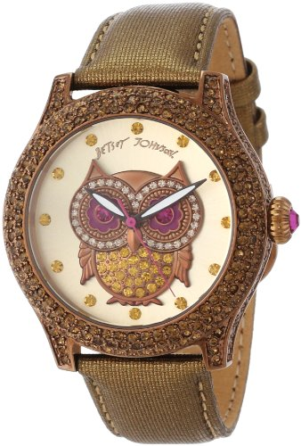 Betsey Johnson Women's BJ00019-57 Analog Owl Graphic Dial Watch