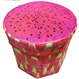 ShopyBucket Folding Storage Organizer Ottoman Stool, Cute 3D Creative Fruit Velvet Children Toy Storage Box, Footstool Seat - B0733841G6
