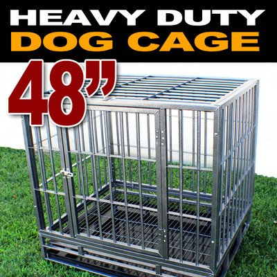 """New Xl 48"""" Heavy Duty Level Iii Dog Pet Cage Crate Kennel Playpen Exercise Pen front-41606"""