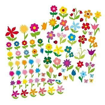 pas cher ctop loisir cr atif gommettes fleurs couleurs tailles assorties 87 pi ces. Black Bedroom Furniture Sets. Home Design Ideas
