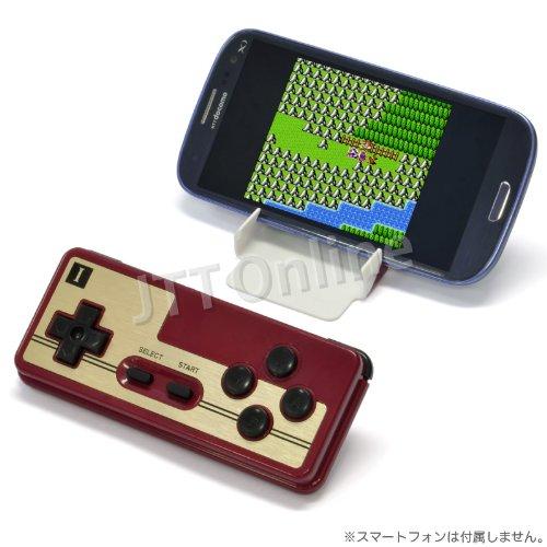 「FC30 GAME CONTROLLER」Bluetooth レトロゲームコントローラー・Android スマートフォン&タブレット・Windowsパソコン対応・懐かしいファミコン風パッド・FC30周年記念【JTTオンライン販売商品】日本語説明書付
