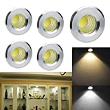 INHDBOX 5x Mini LED-Einbaustrahler Minispot Einbauleuchte Strahler Licht Set Alu