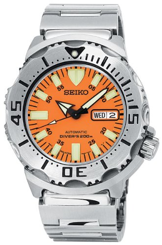 Seiko Men's SKX781 Orange Monster Automatic Dive Watch