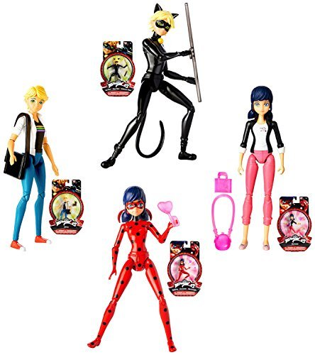 Miraculous-Complete-Set-of-4-Action-Figures-55-Cat-Noir-Ladybug-Adrien-Marinette-by-Miraculous
