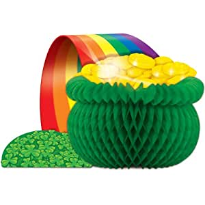 Pot-O-Gold Centerpiece Party Accessory (1 count) (1/Pkg)