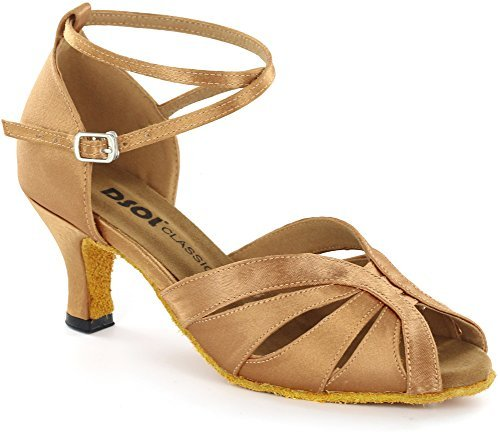 DSOL Women's Latin Dance Shoes DC271303 (6.5, Tan) (Salsa Women Dance Shoes compare prices)