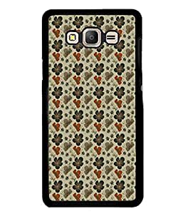 Fuson Premium Hibiscus Flowers Metal Printed with Hard Plastic Back Case Cover for Samsung Galaxy On7
