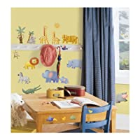 RoomMates RMK1136SCS Jungle Adventure Peel & Stick Wall Decals from RoomMates