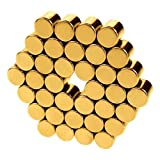 Magnetic Cylinders - .25 inch - Gold
