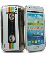 Accessory Master Coque rigide pour Samsung Galaxy S III Mini i8190 Motif Cassette Noir
