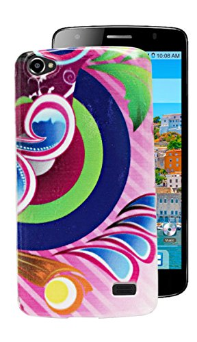 ECellStreet Exclusive Printed Soft Back Case Cover Back Cover For Intex Aqua Star 2 HD - Purple Design