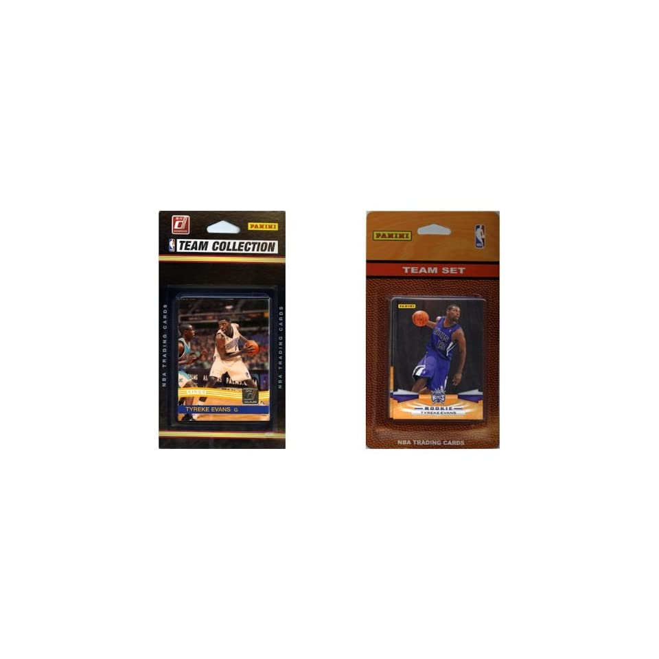 NBA Sacramento Kings 2 Different Licensed Trading Card