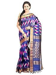 Anagha Handloom Woven Kanjivaram Silk-Cotton Saree - Blue