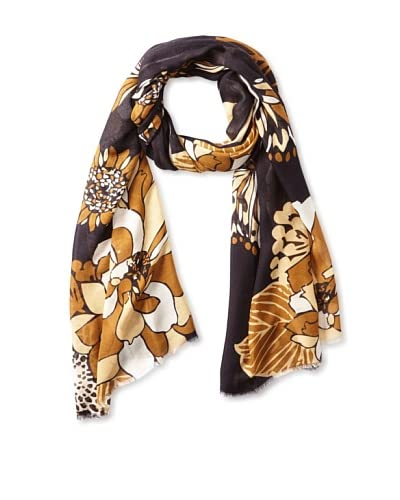 Micky London Women's Garden Of Eden Scarf, Brown Multi