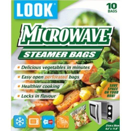 LOOK Mikrowelle Dampfgarer Taschen 'Gemüse' 25cm x 30cm