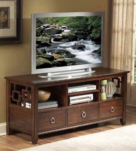 Cheap Homelegance Matrix 58 Inch TV Stand in Cherry (32380-T)