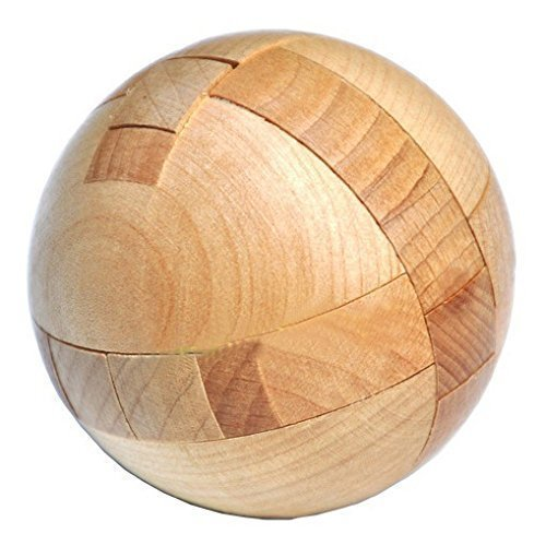 KINGOU Wooden Ball Lock Puzzle Brain Teaser Disentanglement Puzzles Magic Balls