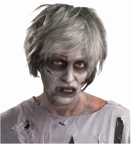 Forum Novelties Zombie Creature Wig, Grey, One Size