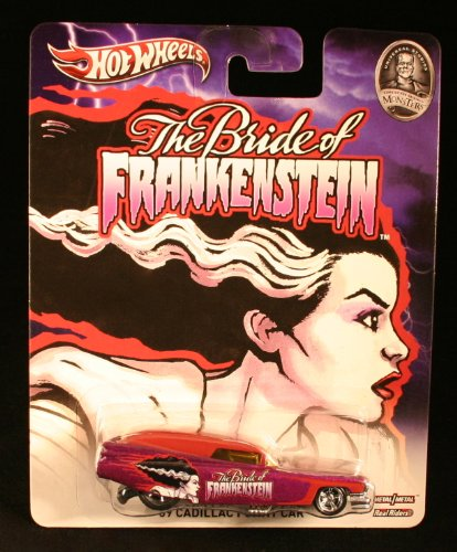 '59 CADILLAC FUNNY CAR * THE BRIDE OF FRANKENSTEIN / UNIVERSAL STUDIOS MONSTERS * Hot Wheels 2013 Pop Culture Series 1:64 Scale Die-Cast Vehicle