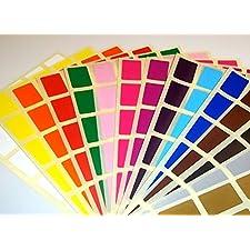 Audioprint Ltd. - Étiquettes Rectangulaires Code Couleur Identification 20 x 30mm - 20 x 30mm, Argent