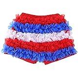 Wennikids - Pantalón corto - para niña multicolor Blue Red
