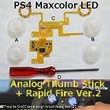 Amazon.co.jpPS4コントローラーボタンが光る! 連射が出来る! そんな改造キット 第2弾!! PS4 Maxcolor LED Analog Thumb Stick + Rapid Fire Ver.2 / アナログパッドLED化&連射キット Dianziオリジナルバージョン[CXD0973] [並行輸入品]