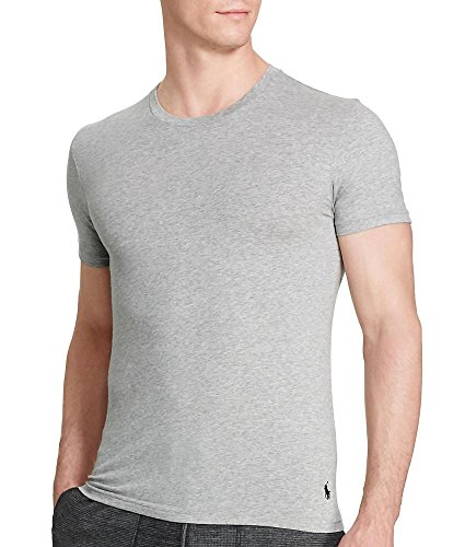 Polo Ralph Lauren Stretch Cotton T-Shirt 2-Pack, M, Andover Grey / Black