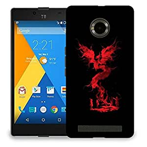 Snoogg Red Dragon Flying Designer Protective Back Case Cover For MICROMAX YU YUPHORIA