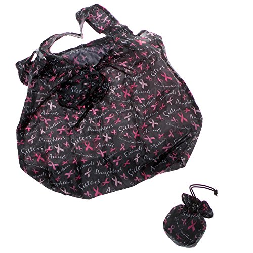 Pink Ribbon Packable Shopping Bag