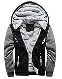 冬も かっこよく 厚手 メンズ ジャケット フード 付 裏地 温か ジャンパー 防寒対策 も バッチリ (3L(日本2Lサイズ), ブラック)