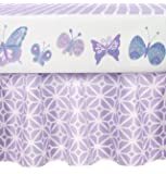 CoCaLo Mix & Match Gathered Dust Ruffle, Violet