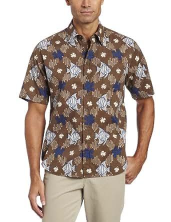 Reyn Spooner Men's Kuilima Button Down Shirt, Nubuck, Small