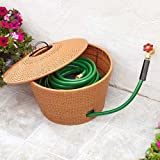 Wicker Hose Storage