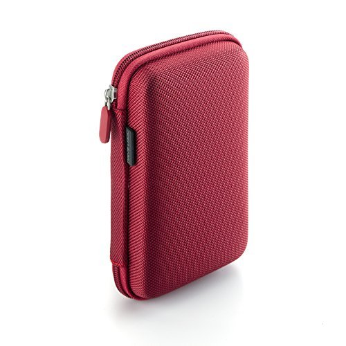 Drive Logic DL-64-RED Portable EVA Hard Drive Carrying Case Pouch, Red