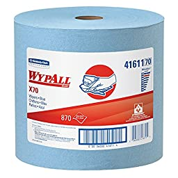 WypAll X70 Extended Use Reusable Wipers (41611), Jumbo Roll, Long Lasting Performance, Blue, 1 Roll, 870 Sheets