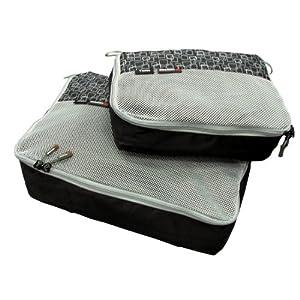 packtaschen set zweiteilig caribee packing cubes f r die perfekte ordnung im koffer und gep ck. Black Bedroom Furniture Sets. Home Design Ideas