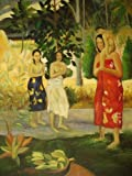 20X24 inch Paul Gauguin Oil Painting Tahitian St. Mary&Baby
