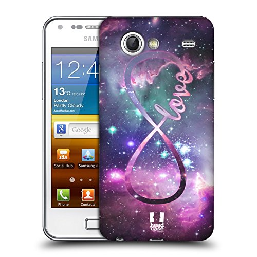 Head Case Designs Love Infinity Collection Protective Snap-on Hard Back Case Cover for Samsung Galaxy S Advance I9070