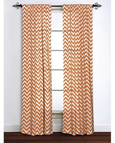 Rizzy Home Orange Chevron Window Panel
