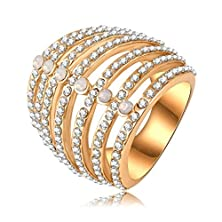 buy Bishilin 18K Gold Plated Fashion Womens Ring Wedding Bands Rose Gold Us Size 8