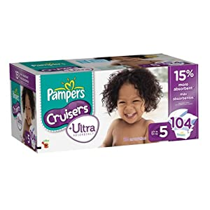 Pampers Cruisers Ultra Diapers Size 5, 104 Count