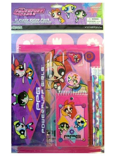 Cartoon Network Powerpuff Girls Stationery - 11 pcs School Supplies Value Pack