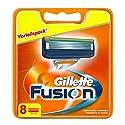 Gillette Fusion Rasierklingen, 8 Stück, briefkastenfähige Verpackung